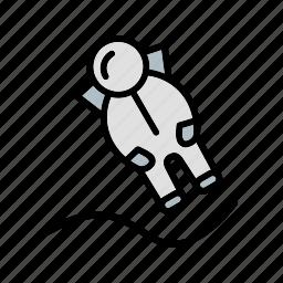 astronout, astronout landing, space, spaceman, universe icon