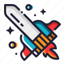 rocket, spaceship, startup icon