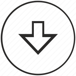 arrow, atm, bottom, choice, down, menu, ui icon