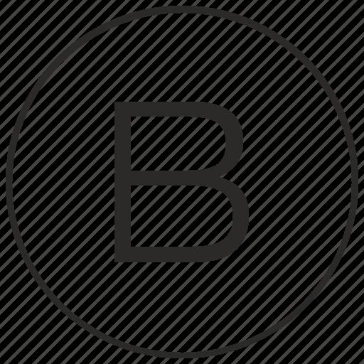 alphabet, atm, b, letter, ui, uppercase icon