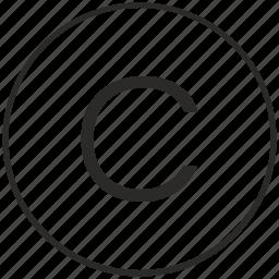alphabet, atm, c, letter, ui, uppercase icon