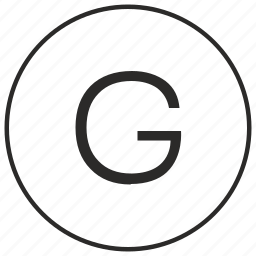 alphabet, atm, g, letter, ui, uppercase icon