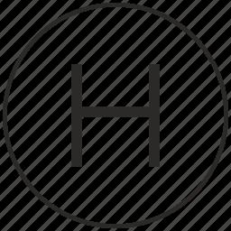 alphabet, atm, h, letter, ui, uppercase icon