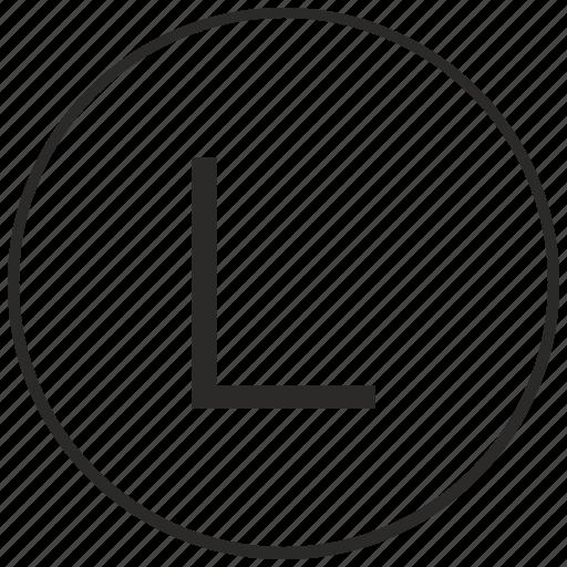 alphabet, atm, l, letter, ui, uppercase icon