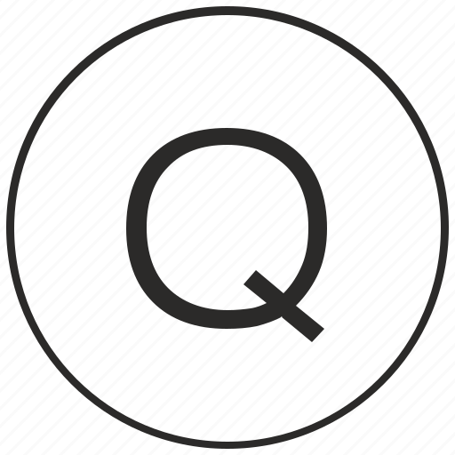alphabet, atm, letter, q, ui, uppercase icon
