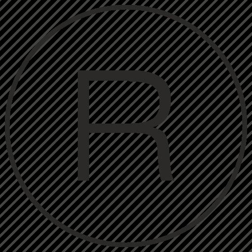 alphabet, atm, letter, r, ui, uppercase icon