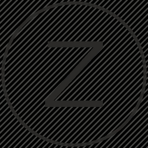 alphabet, atm, letter, ui, uppercase, z icon