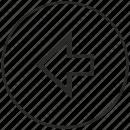 arrow, back, last, left, menu, navigation, ui icon