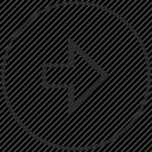 arrow, menu, navigation, next, right, ui icon
