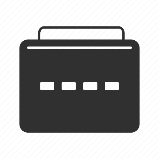 briefcase, business, documents, files icon
