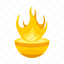 attribute, fire, flame, god icon