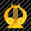 attribute, god, lira, lyre icon