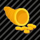 attribute, copper, god, money, pipe icon
