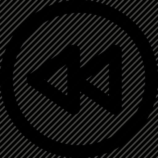 back, backward, rewind icon