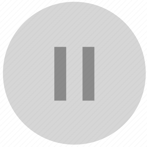 button, multimedia, pause icon