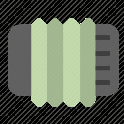 accordion, multimedia, music icon