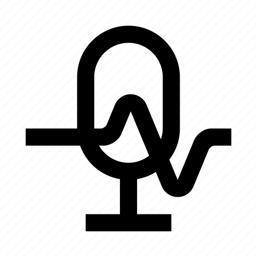 audio, mic, microphone, music, record, sound, wave icon
