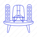 2, audio, speakers, subwoofer icon