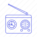 antenna, audio, clock, fashioned, old, radio, retro, vintage