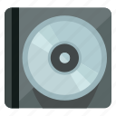 audio, case, cd, dvd, music, sound, storage icon