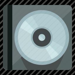 audio, case, cd, dvd, music, sound, storage icon