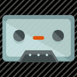 audio, cassette, music, sound, storage, tape icon