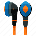 audio, device, earplugs, entertainment, headphones, music, sound icon