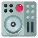 audio, device, entertainment, mixer, music, sound icon