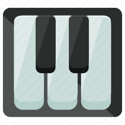 audio, keys, music, piano, play, sound icon