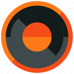audio, dial, preferences, round, settings, sound icon
