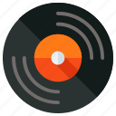 audio, cd, dvd, music, record, recording, vinyl icon