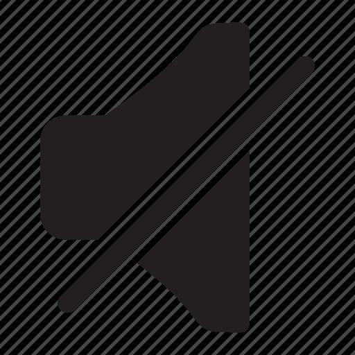 audio, mute, no, quiet, silence, sound icon