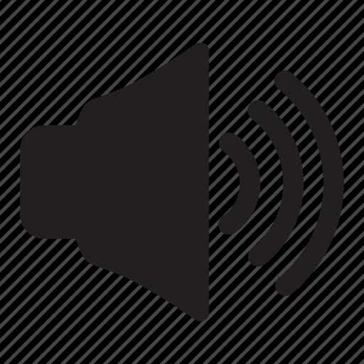 audio, high, sound, speaker, volume icon