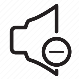 audio, decrease, lower, minus, speaker, volume icon