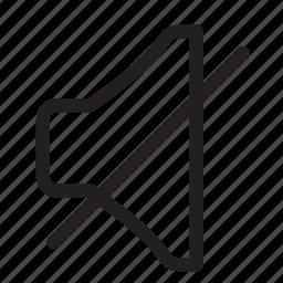 audio, mute, quiet, silence, speaker icon