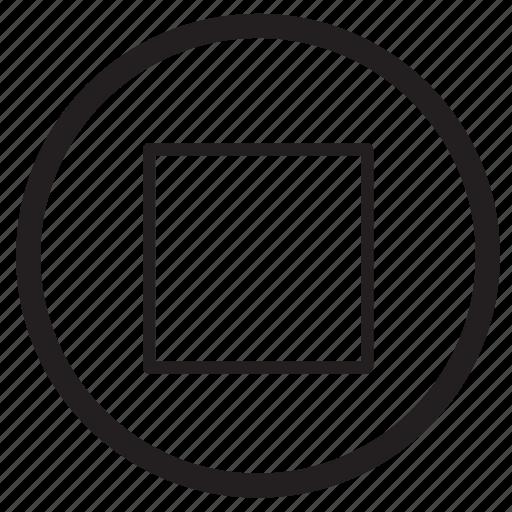audio, movie, music, sound, square, stop icon