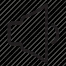 audio, low, music, sound, volume icon