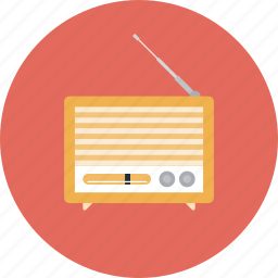 audio, broadcast, broadcasting, communication, listen, music, news, old, player, podcast, radio, receiver, record, retro, sound, studio, vintage icon