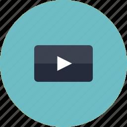 arrow, audio, clip, internet, media, movie, multimedia, music, play, player, podcast, sound, video, web, youtube icon