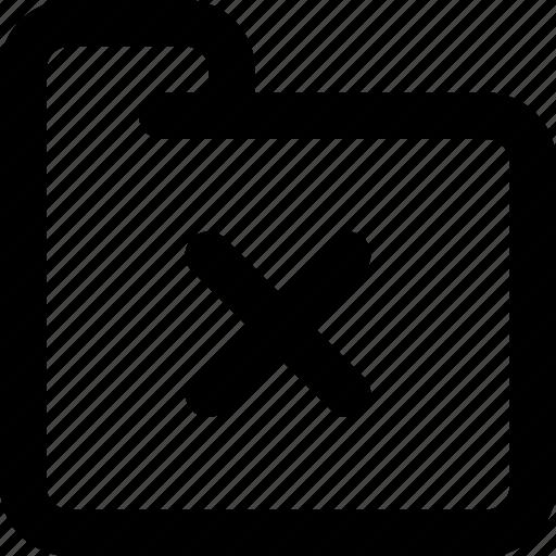 delete, delete folder, folder, remove, remove folder, stop icon