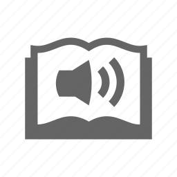 audio, book, speaker icon