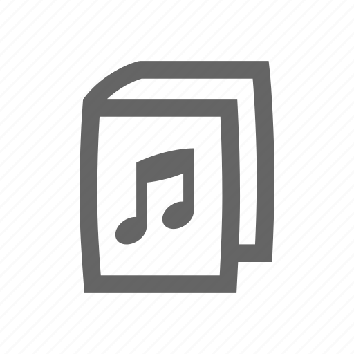 audio book, book, note icon