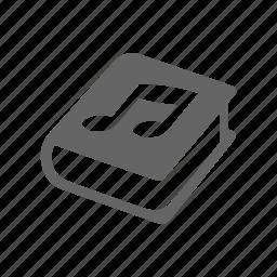 audio book, book, note icon