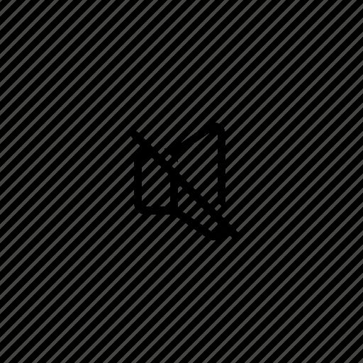 mute, silent, volume icon