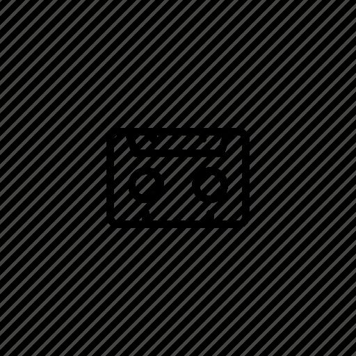 casette, radio, track icon