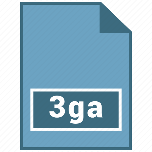 3ga, audio, file format icon
