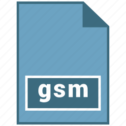 audio, file format, gsm icon