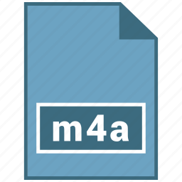 audio, file format, m4a icon