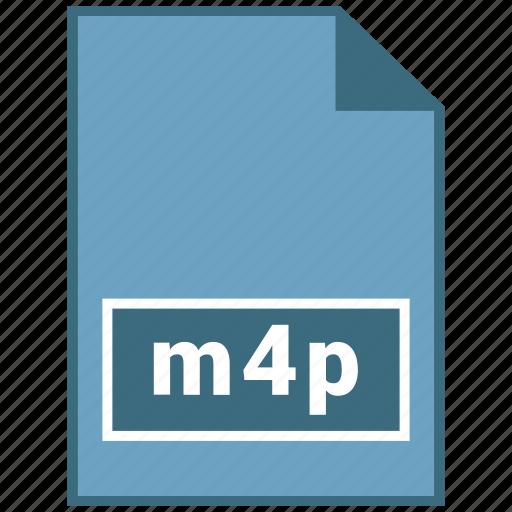 audio, file format, m4p icon