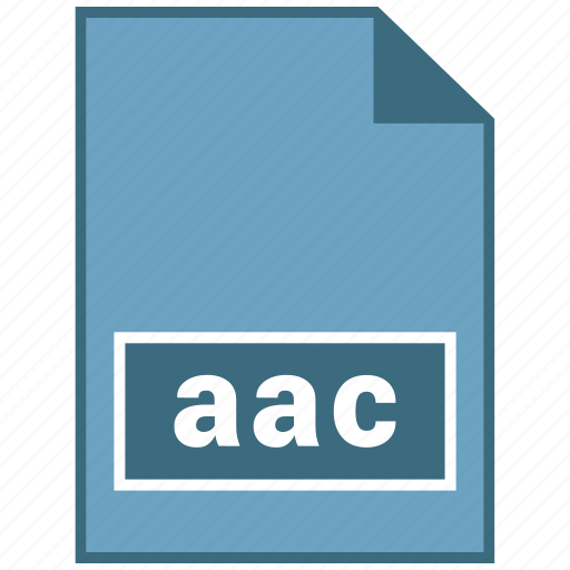 aac, audio, file format icon